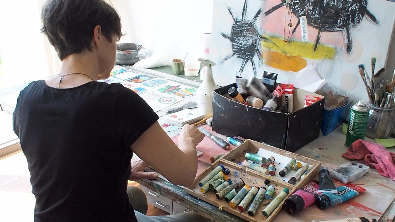 Kunststimmung im Atelier
