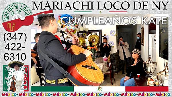 CUMPLEAÑOS Kate - El mejor mariachi de New York - Mariachi Loco de NY (347) 422-6310