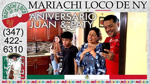 ANIVERSARIO Juan & Paty - El mejor mariachi de New York - Mariachi Loco de NY (347) 422-6310