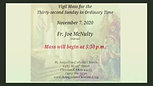 Vigil Mass- Thirty-second Sunday in Ordinary Time
