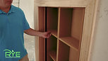 Arkansas Custom Home Hidden Understairs Closet