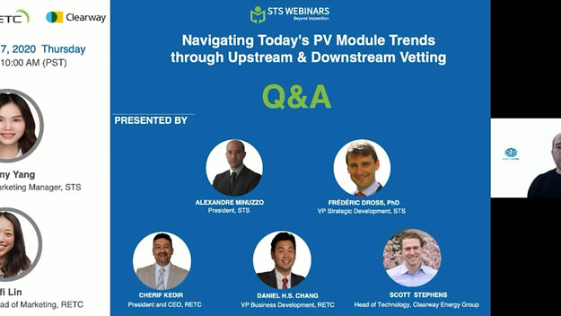 Webinar-Navigating Today's PV Modules Trends through Upstream & Downstream Vetting