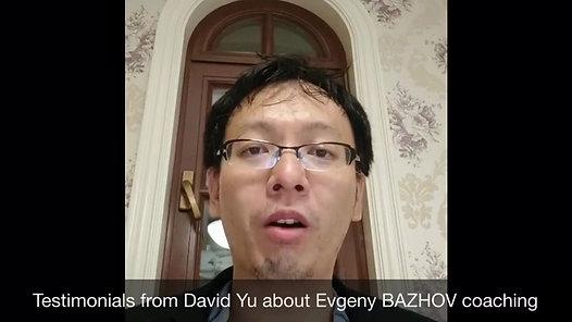 Testimonial from David Y., Shanghai China