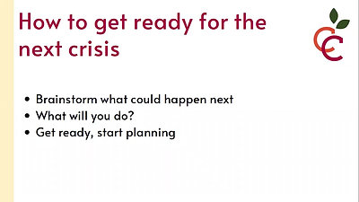 Crisis communications webinar