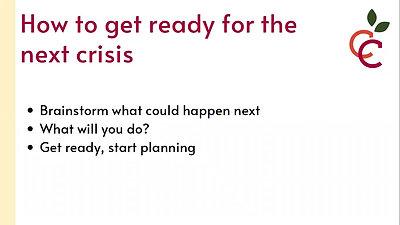 Crisis communications webinar