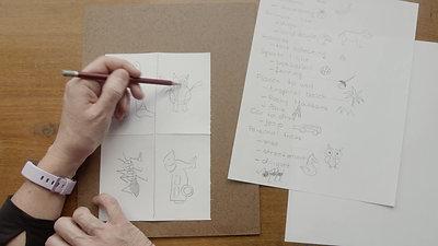 Gabriella Solti Drawing V2 Hybrid Creature