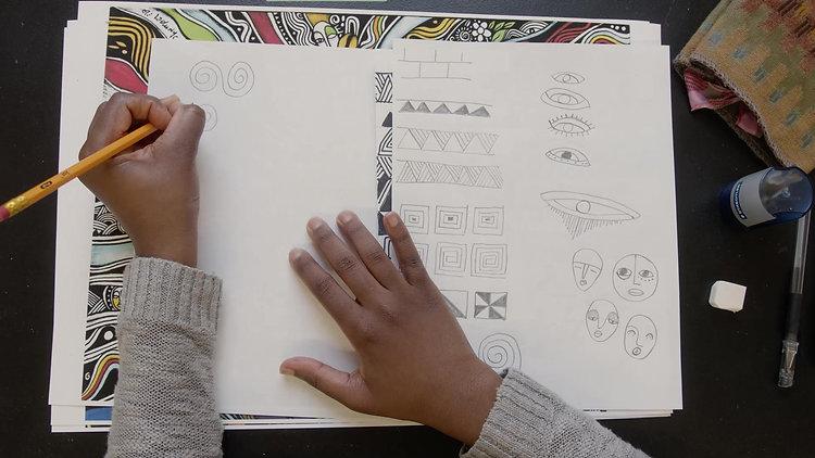 Amsa Yaro Drawing - Inspired By Laolu Senbanjo