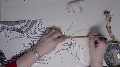 Brenda Collins V7 Drawing - 7 Grandfather Teachings