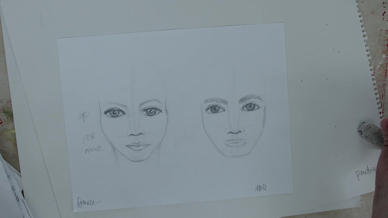 Marilyn Lazenby Drawing Portraits