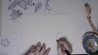 Brenda Collins V2 Drawing - 7 Grandfather Teachings