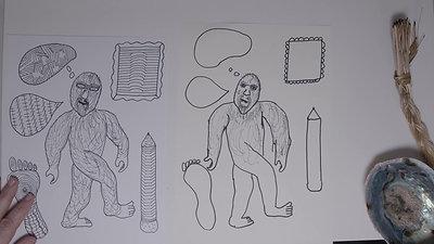 Brenda Collins V6 Drawing - 7 Grandfather Teachings