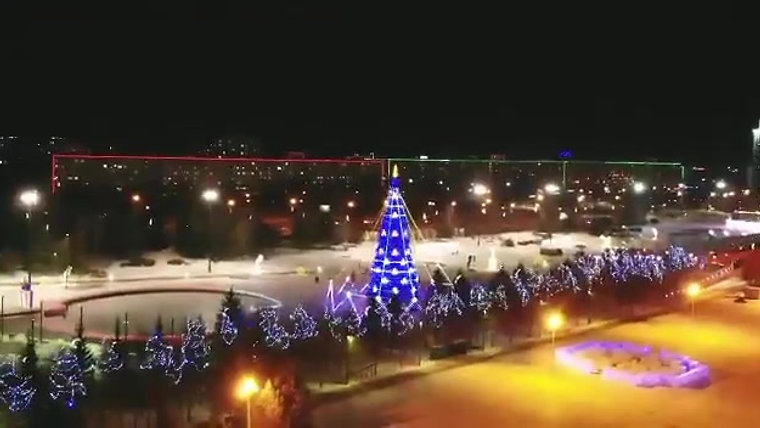 Christmas lights, Kazan 2019
