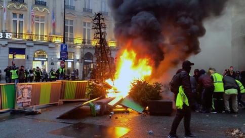 La manifestation des «gilets jaunes» à Paris 1 décembre 2018