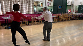 Student Tom dances Rumba - 96 years old