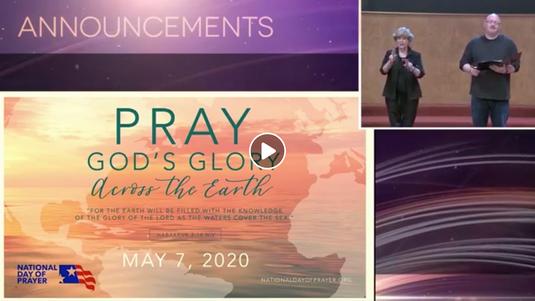 OGBC National Day of Prayer Worship Rally (May 6, 2020)