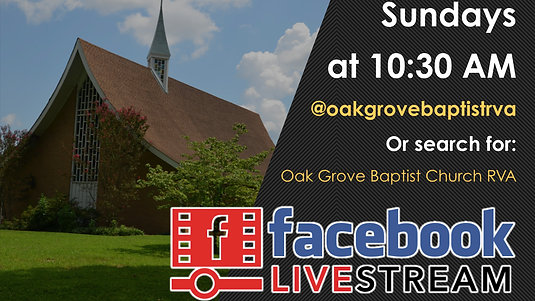 Online Worship at OGBC (March 15, 2020)