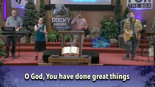 Re-Gathering Worship at Oak Grove Baptist Church (July 5, 2020)