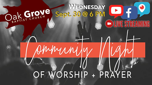 Wednesday Night LIVE! at OGBC (Sept. 30, 2020)