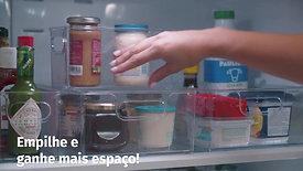 Organizadores para geladeira e despensa