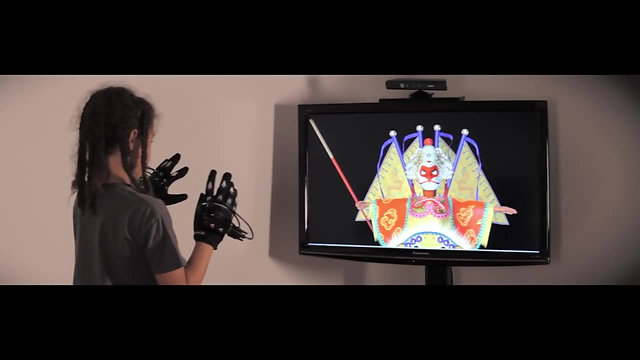 Virtual impersonation using interactive glove puppets