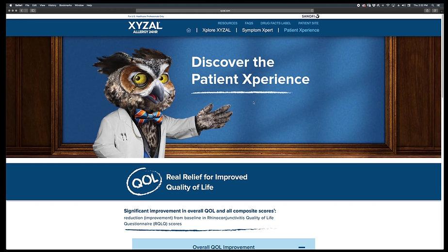 Xyzal Website Preview