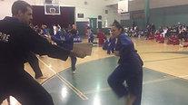 Martial Arts Red Belt Brown Stripe Breaking