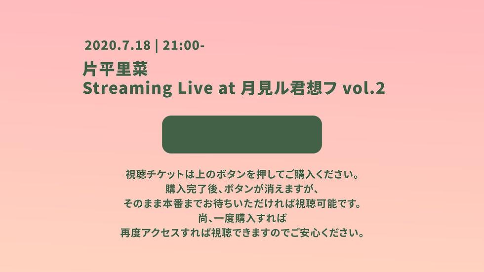 片平里菜 Streaming Live at 月見ル君想フ vol.2