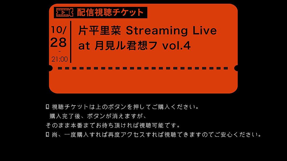 片平里菜 Streaming Live at 月見ル君想フ vol.4