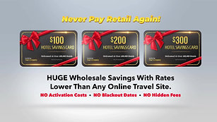 $300 HOTEL SAVINGS CARD