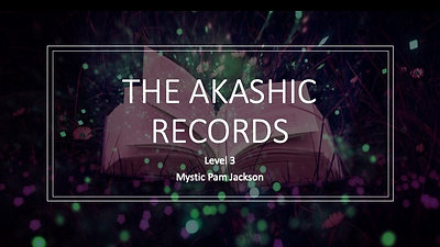 Akashic Records Webinar Oct 29