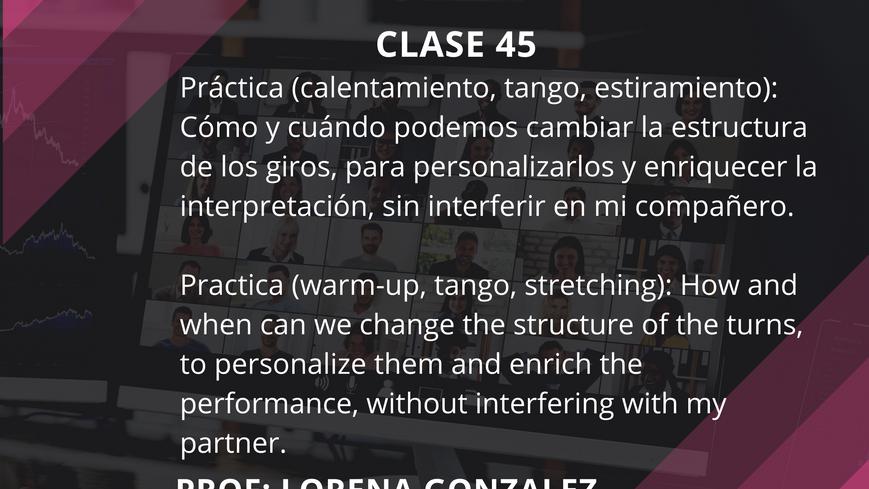 Clase 45 - Lorena Gonzalez - July 9