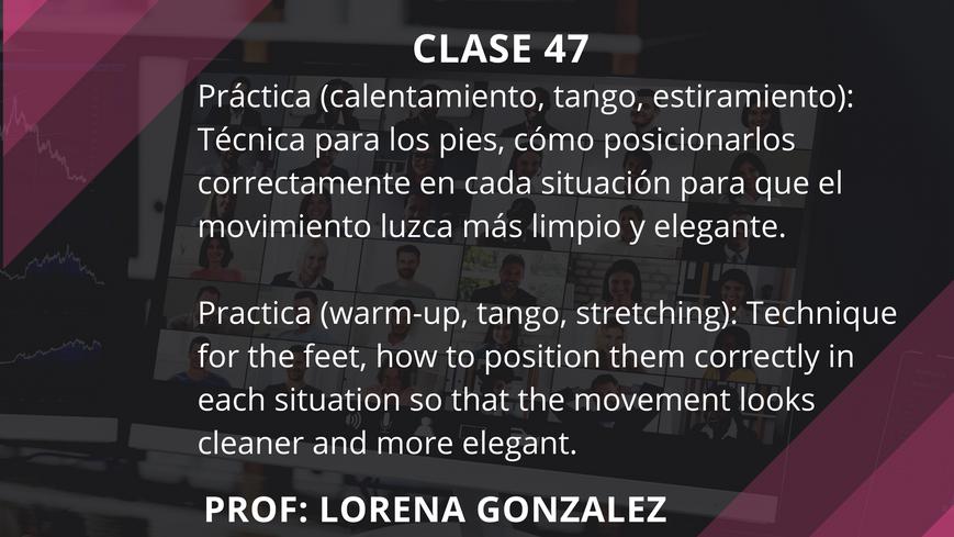Clase 47 - Lorena González - July 16