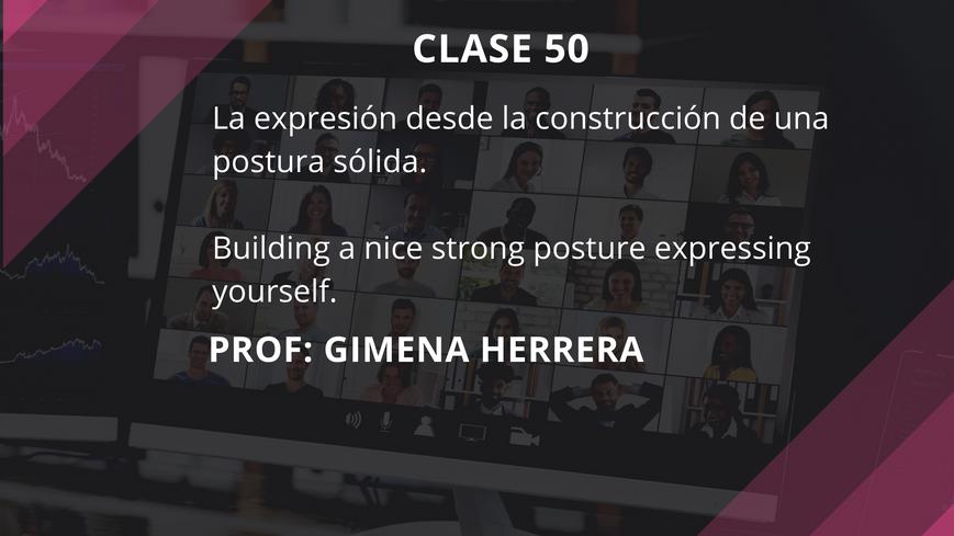 Clase 50 - Gimena Herrera - July 28