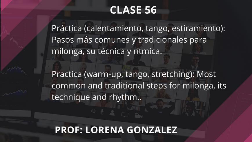 Clase 56 - Lorena Gonzalez - Sep 17
