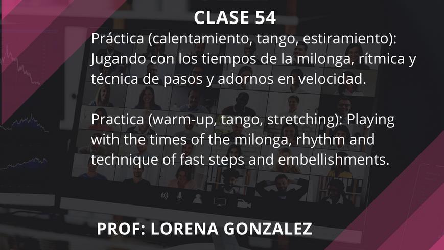 Clase 54 - Lorena Gonzalez - Sep 10