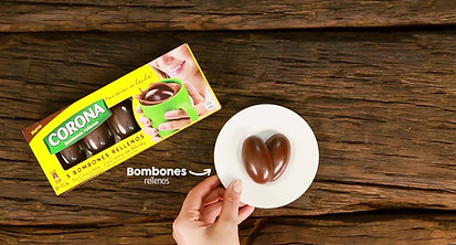 Receta Chocolate Corona Bombones