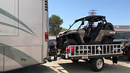 Motorhome or RV with Freedom Hauler with RZR and Jeep
