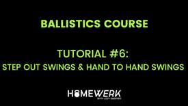 Tutorial #6: Step out Swings & Hand to Hand Swings