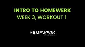 Week 3, Workout #1