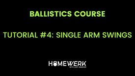 Tutorial #4: Single Arm Swings