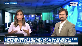 Band News 24/janeiro/2019: Janeiro Branco