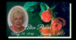Alice Powers Memorial Service