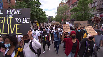 Thousands march peacefully through Montreal in Black Lives Matter protest