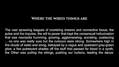 Where the Wired Things Are