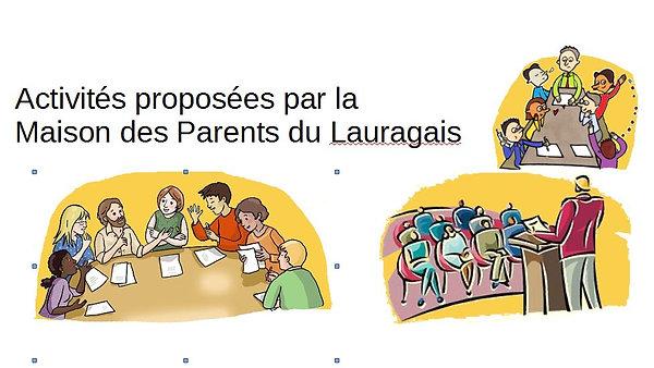 Les activités proposées par la maison des parents