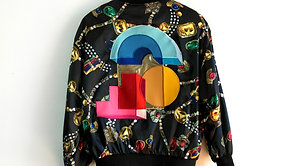 Vintage Jewel Print Windbreaker