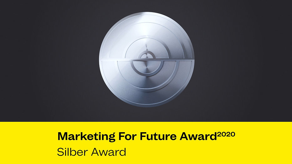 Marketing For Future Award 2020 - Silber