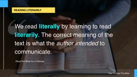 3. Reading Literarily