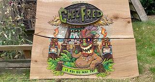 Chez Fred gravure sur bois