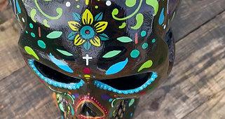 Crâne mexicain sculpté